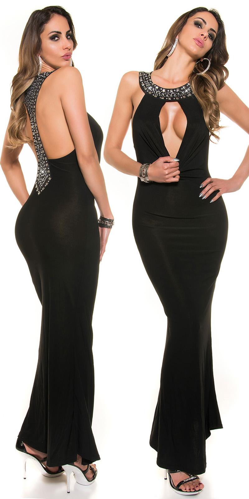 Dlouhé šaty 0000622 - Black