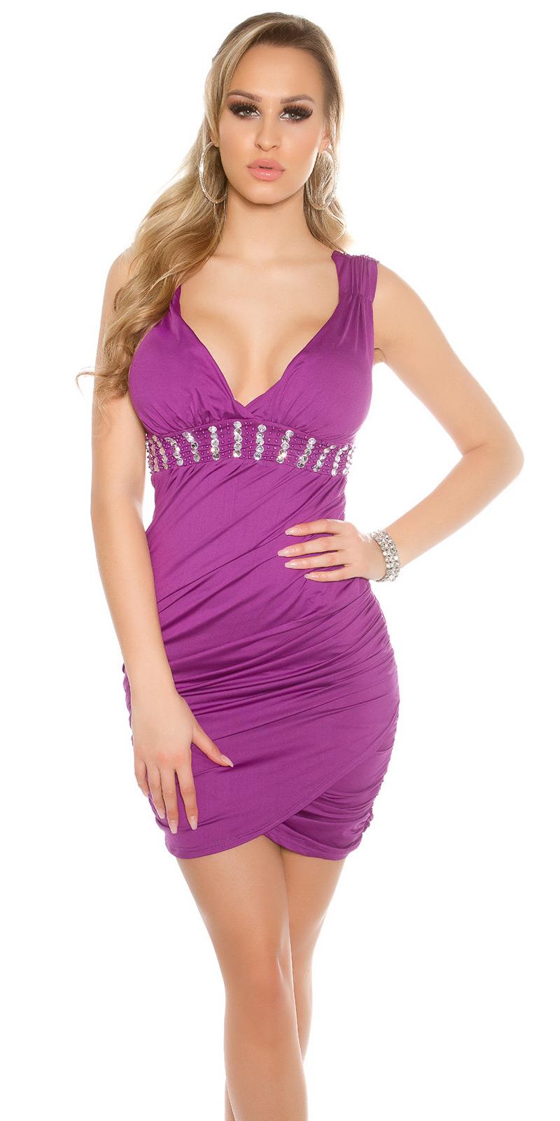 Krátké šaty 0000ISF9009-N - purple