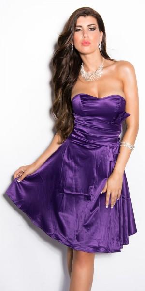Sexy Cocktail-Kleid m. XL-Schleife in Corsage-Look