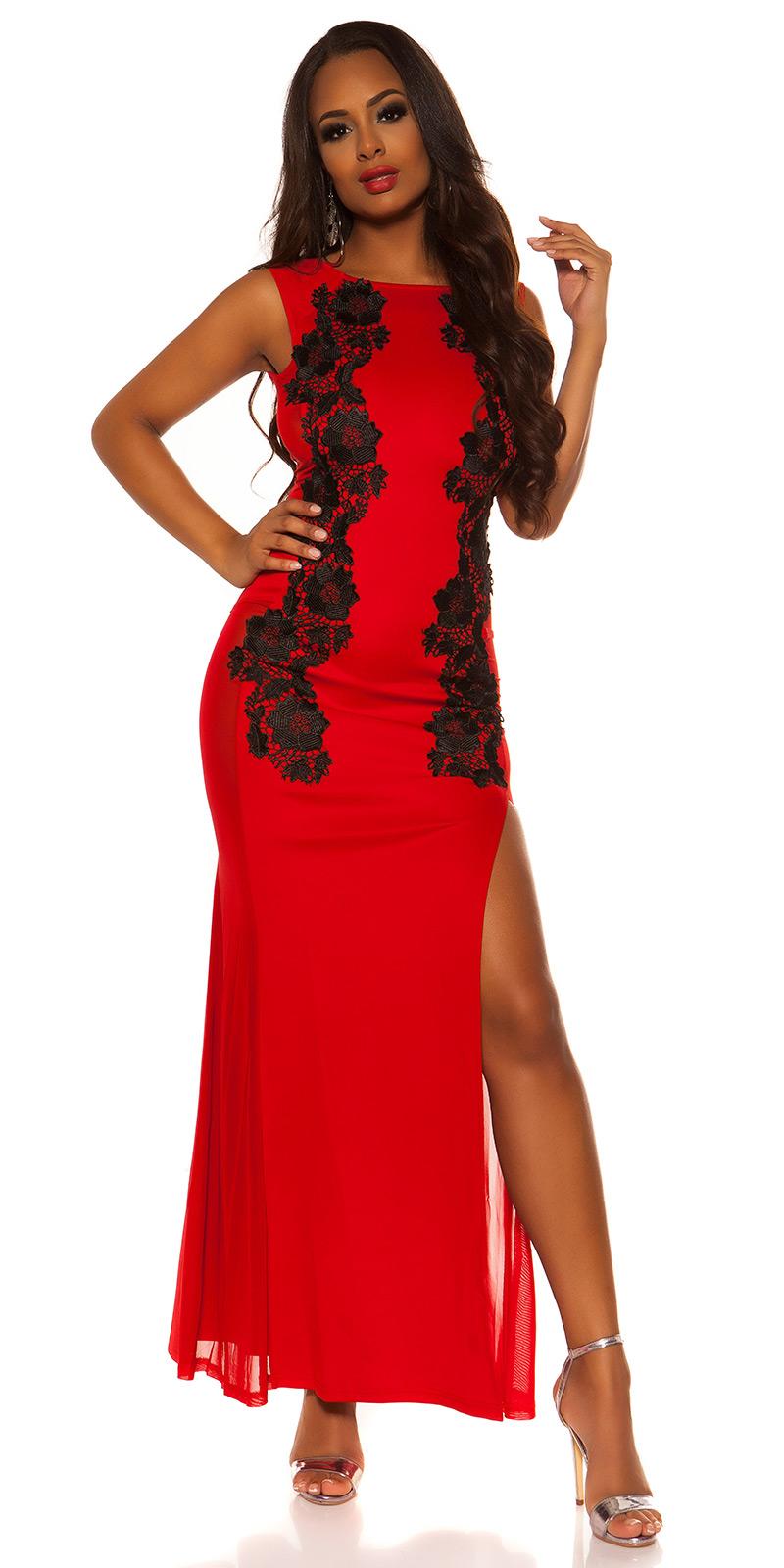 Dlouhé šaty 0000K18442 - red