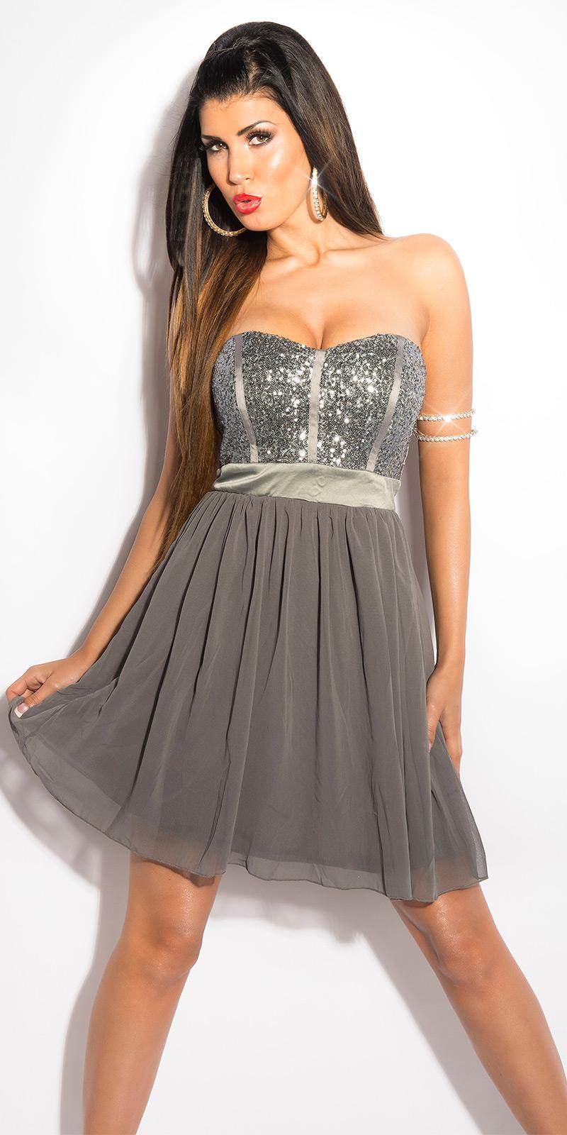 Koktejlové šaty 0000IN50143 - grey