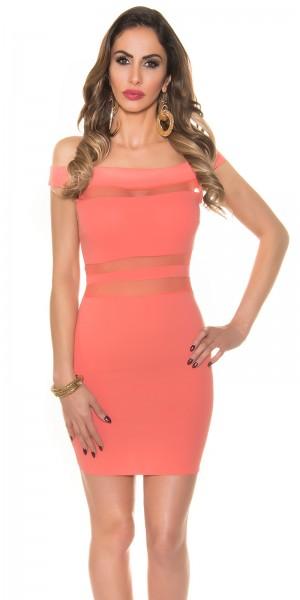 Sexy Minikleid mit Carmen-Ausschnitt Kylie J Style
