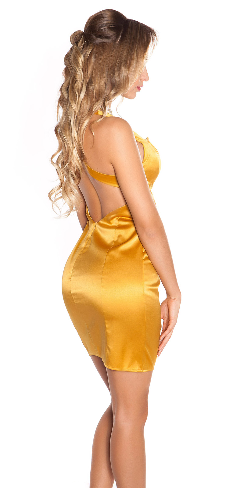 Koktejlové šaty 0000DCS05565 - Gold