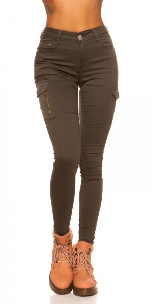 Sexy Highwaist Cargo Skinny Jeans