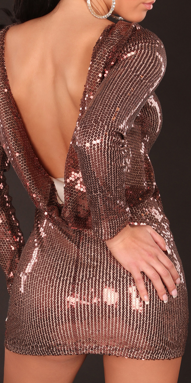 Plesové šaty 0000K2283 - brown