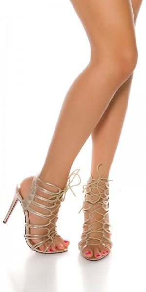 Sexy geschnürte High Heel Sandaletten
