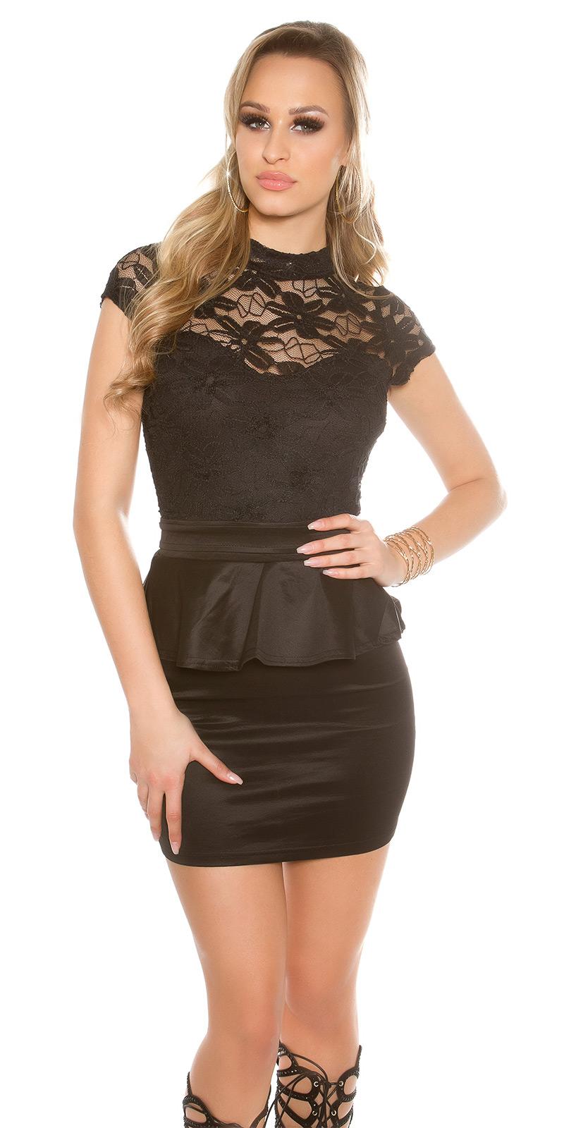 Koktejlové šaty 0000IN50215 - Black