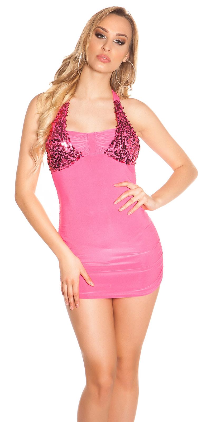 Krátké šaty 0000K10285-N - Pink