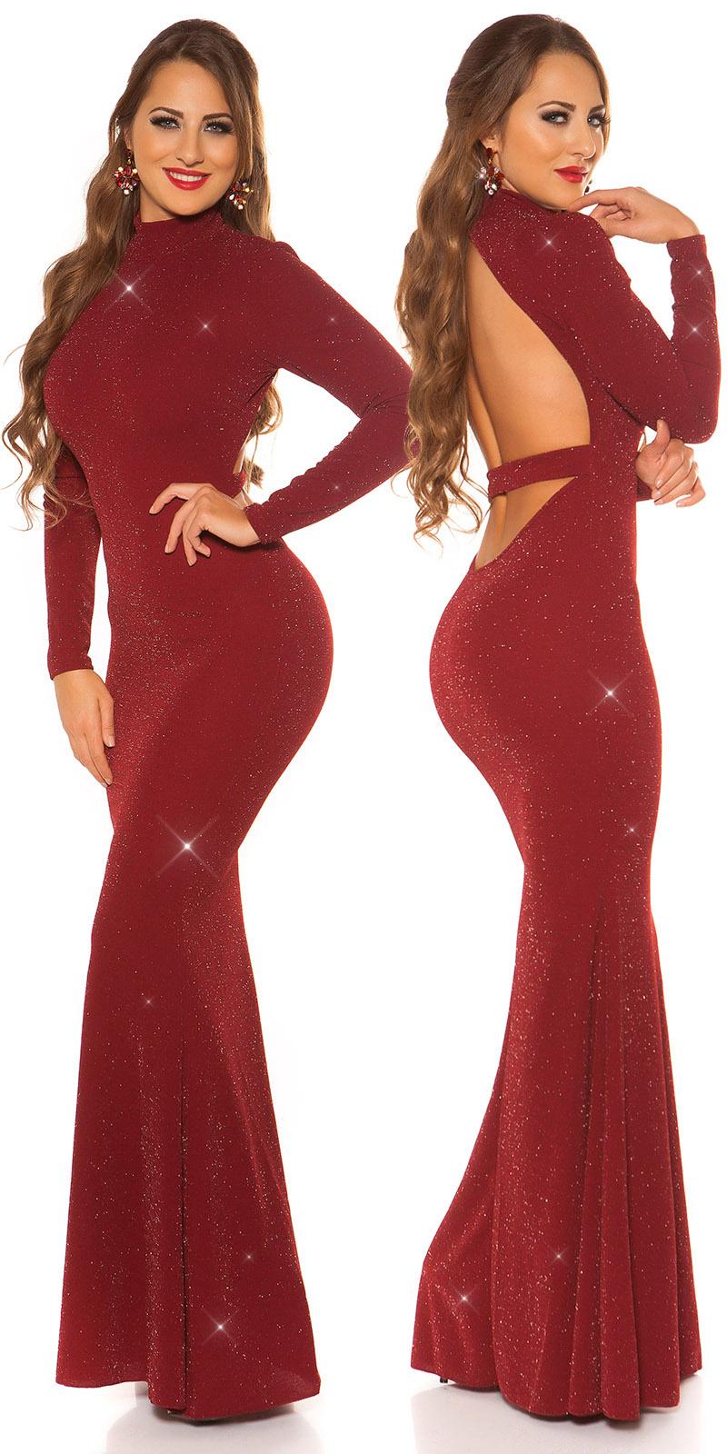 Plesové šaty 0000K198511 - Bordeaux