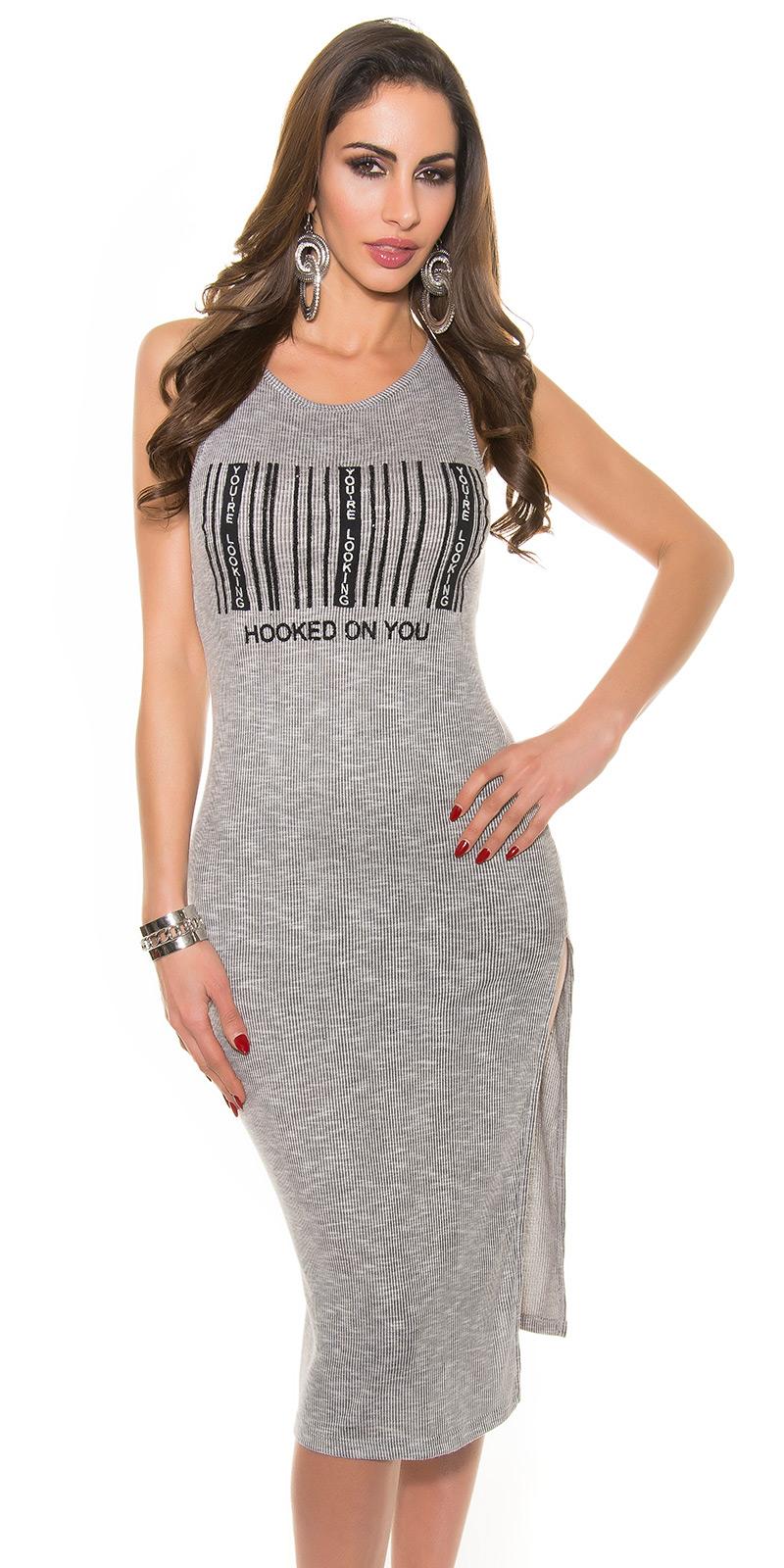 Dlouhé šaty 0000E035 - grey