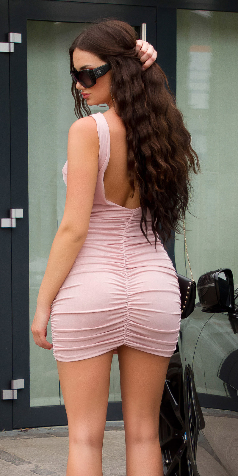 Krátké šaty 0000K15248 - pink