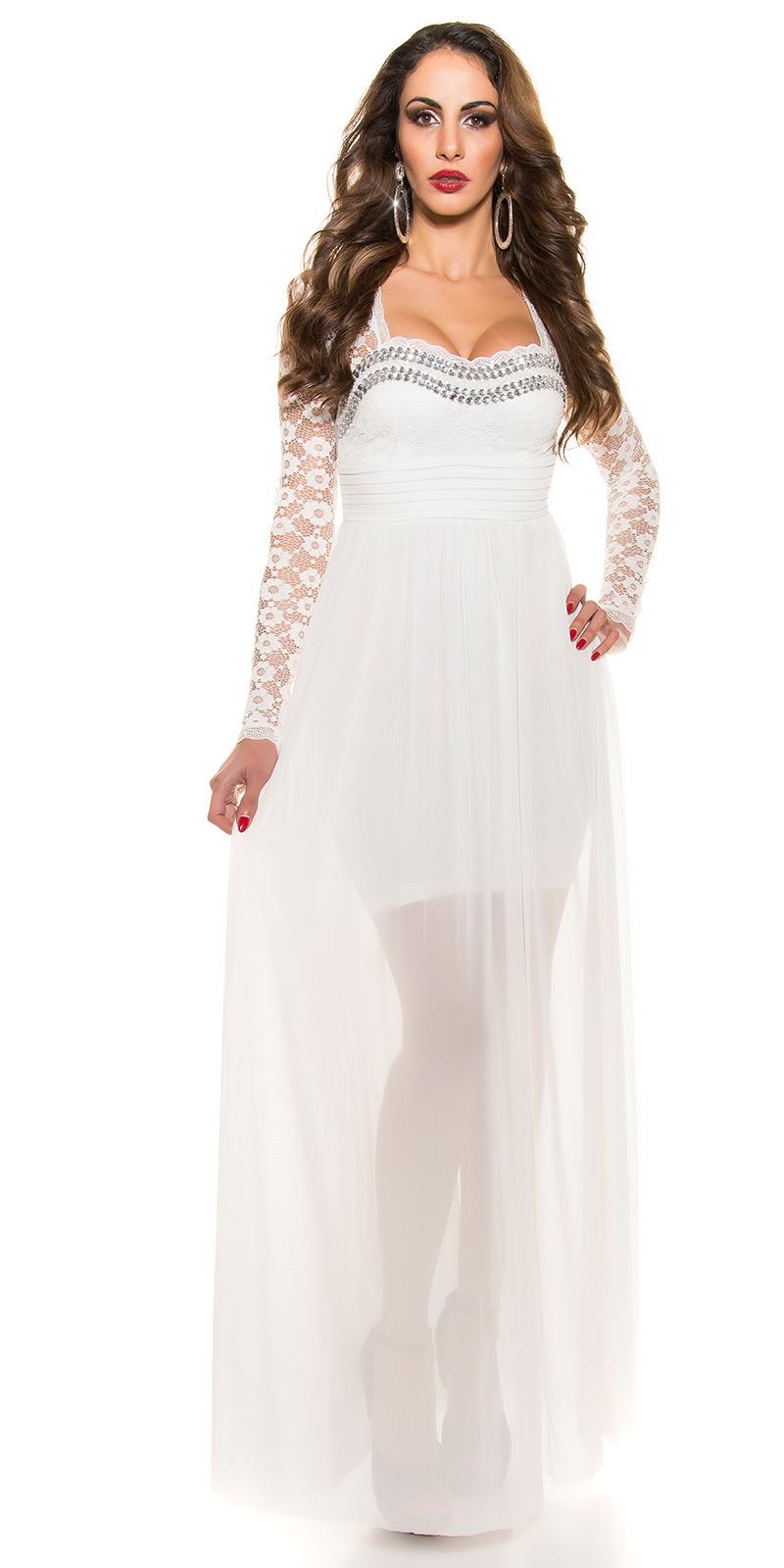 Plesové šaty 0000K9141 - white