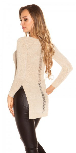 Sexy HighLow Pullover im Destroyed Look