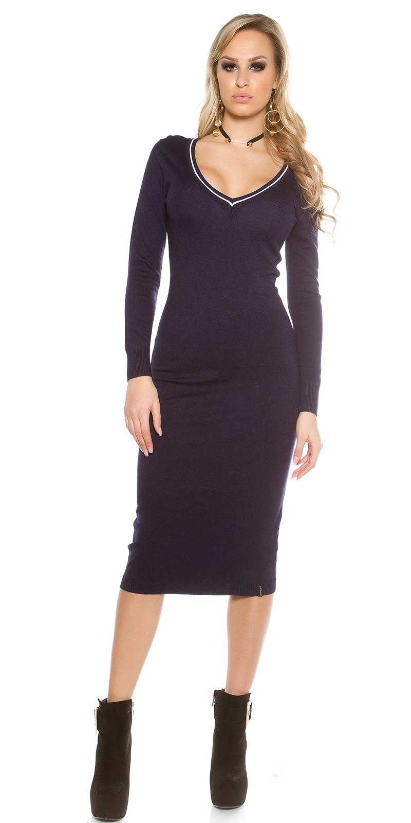 Dlouhé šaty 0000IN-201611 - navy