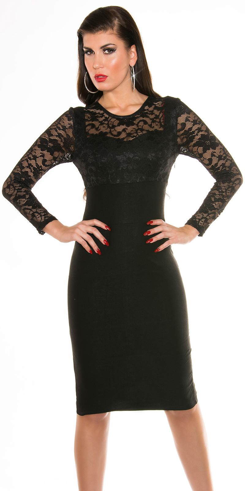 Plesové šaty 0000K9111 - Black