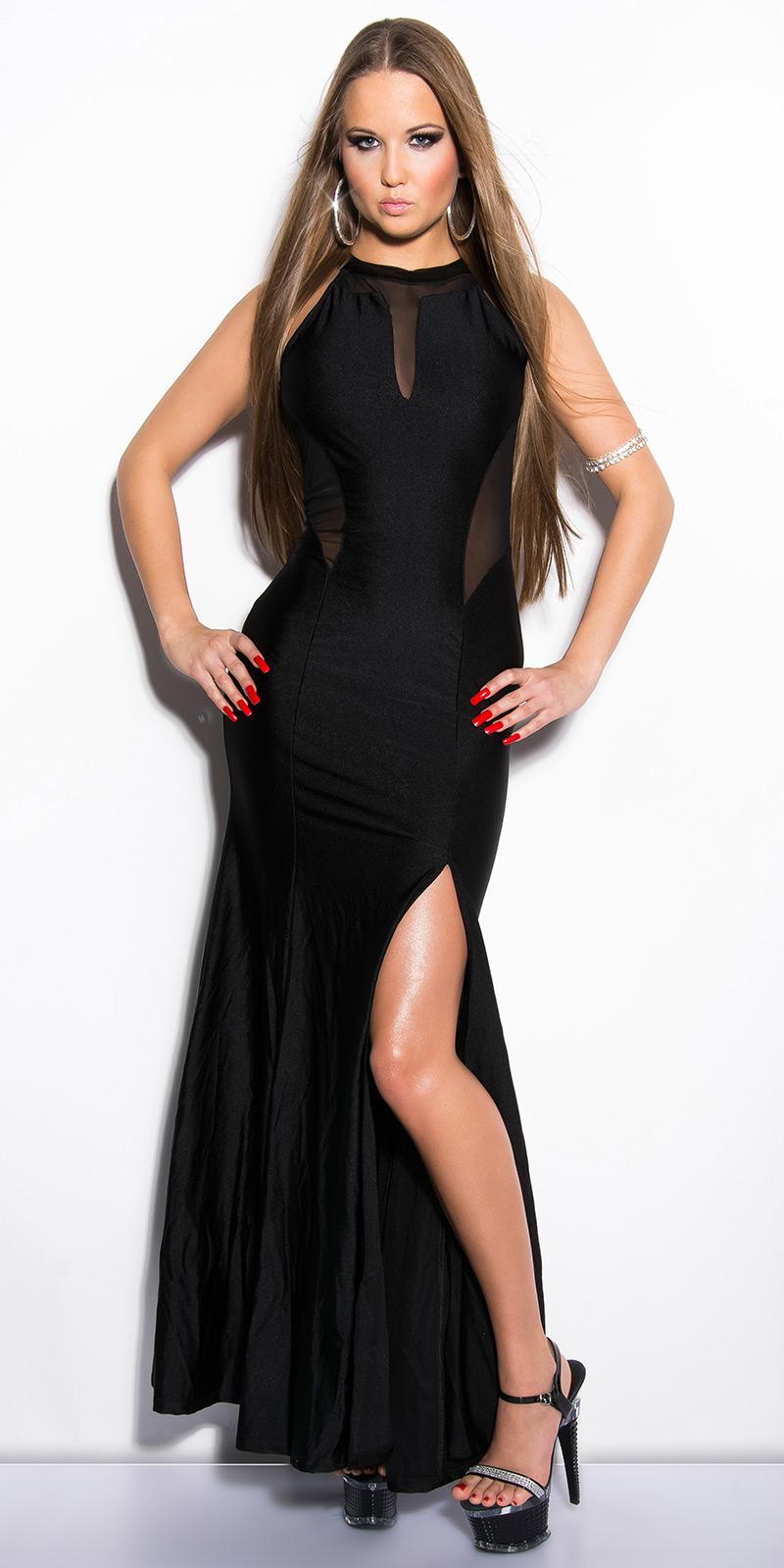 Dlouhé šaty 0000IN50366 - Black