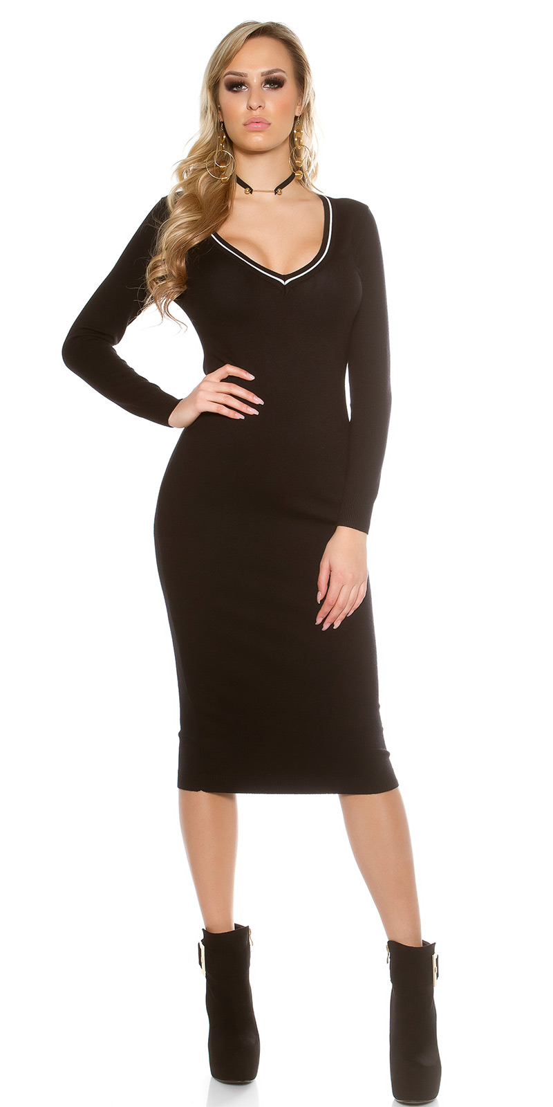 Dlouhé šaty 0000IN-201611 - Black