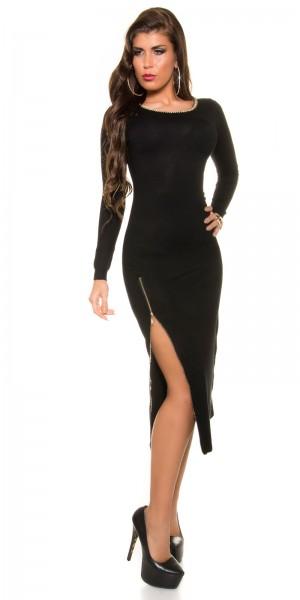 Trendy Koucla Feinstrick Kleid mit Reißverschluss