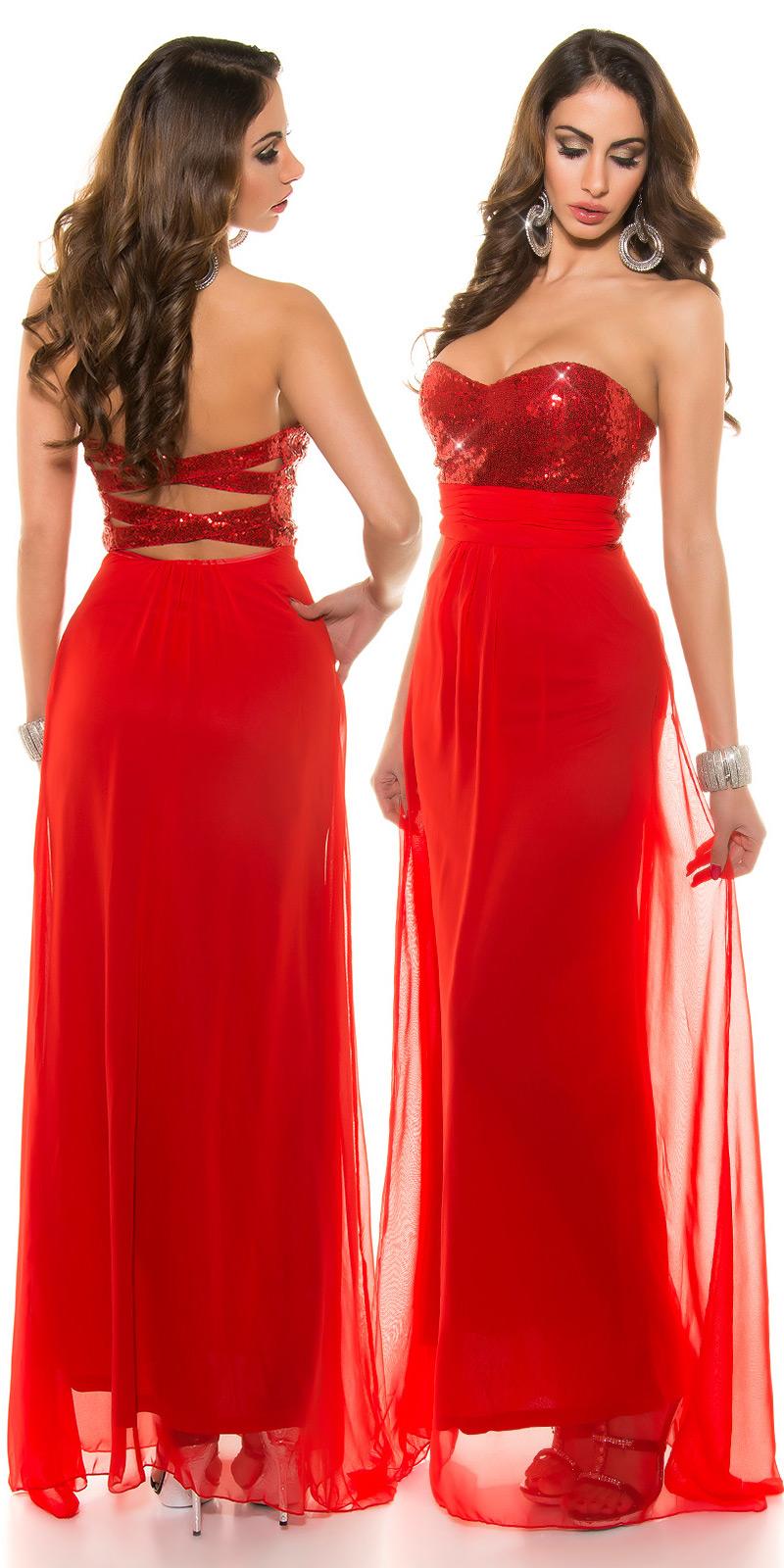 Dlouhé šaty 0000IN50590 - red