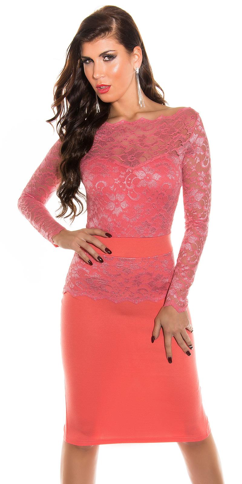 Dlouhé šaty 0000K18406 - Coral