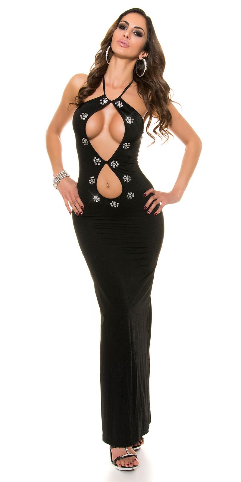 Dlouhé šaty 0000K0707 - Black