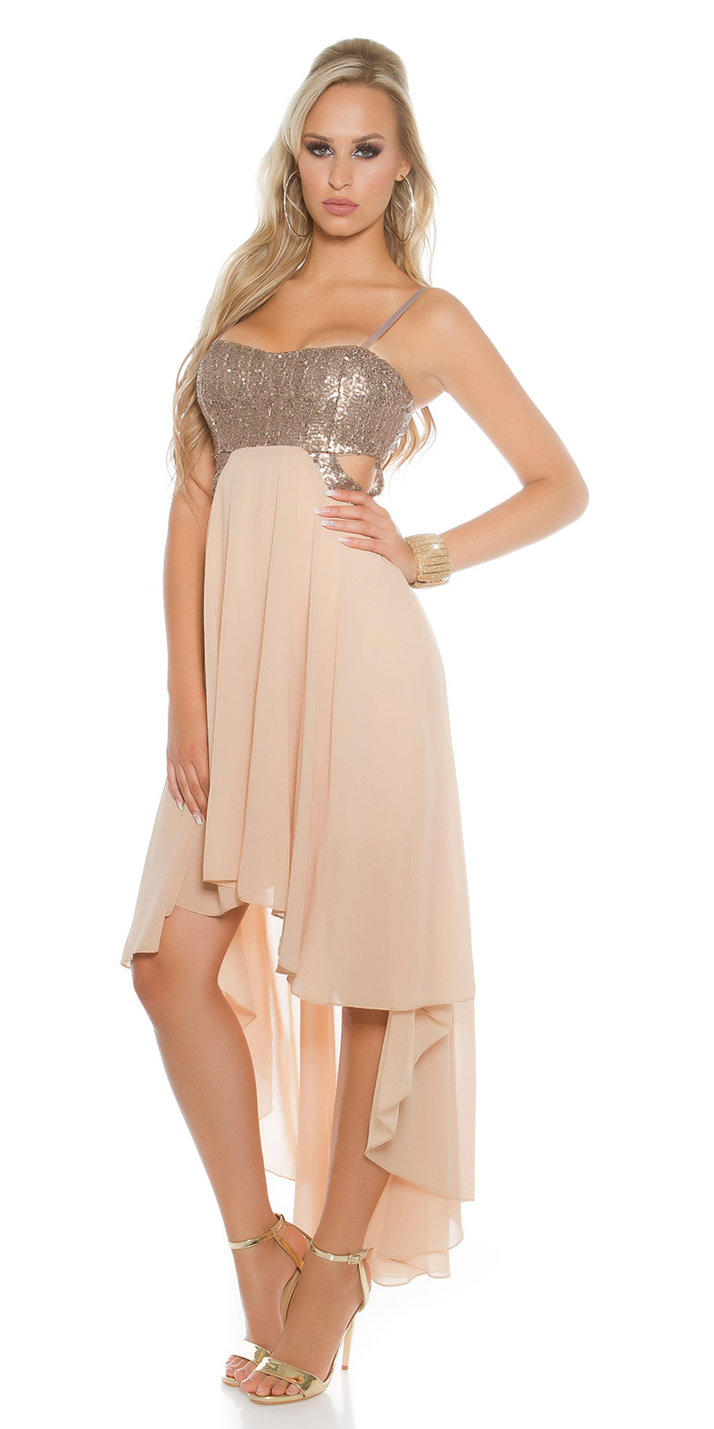Plesové šaty 0000K9325 - Beige
