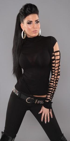 Sexy Shirt mit Ärmeln im Destroyed-Look