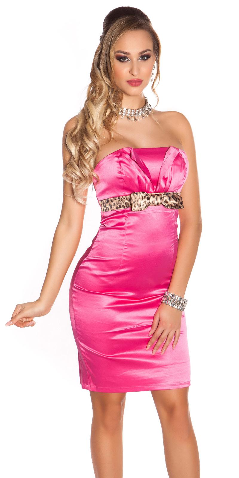 Koktejlové šaty 0000IDO-0874 - Pink