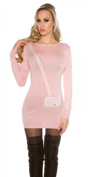 Trendy KouCla Longpulli/ Kleid + Handtaschenmuster