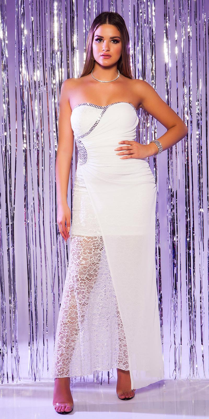Plesové šaty 0000K9145 - white