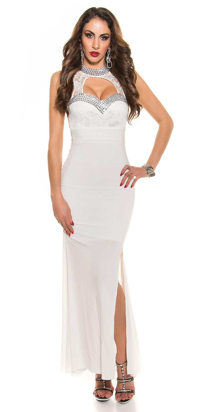 Plesové šaty 0000K9143 - white