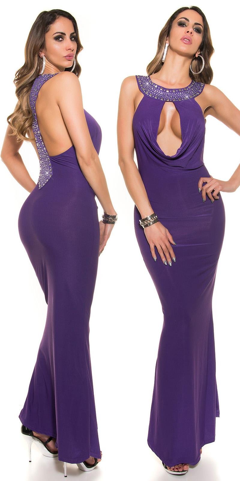 Dlouhé šaty 0000622 - purple