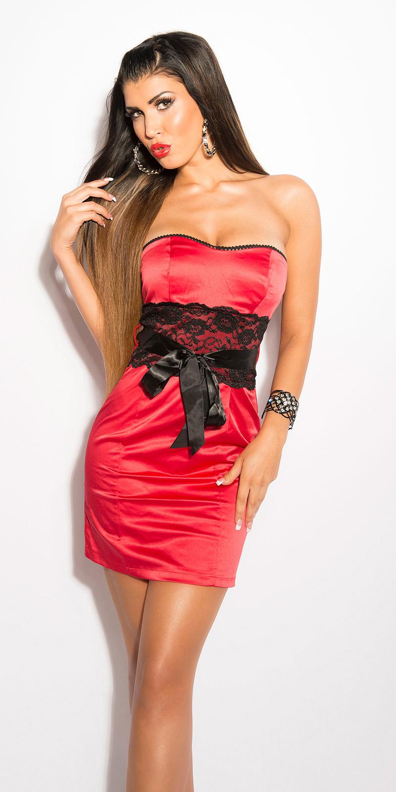 Koktejlové šaty 0000IN50133 - red