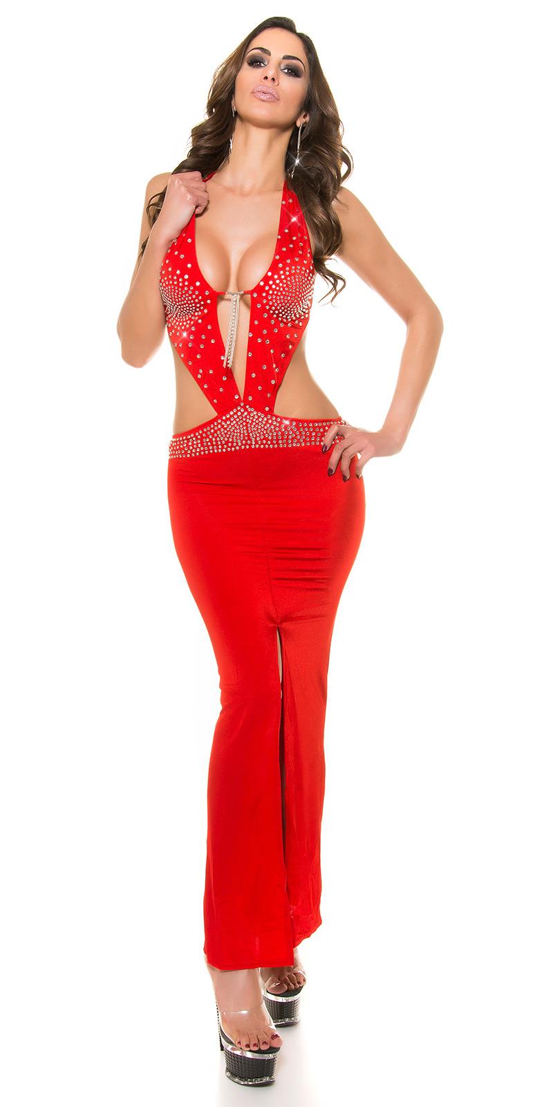 Dlouhé šaty 0000D13 - red