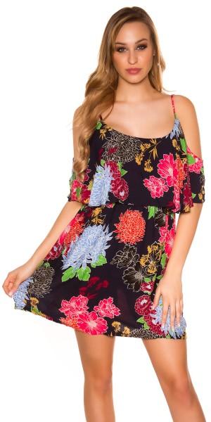 Sexy Sommer-Minikleid  Blumenprint