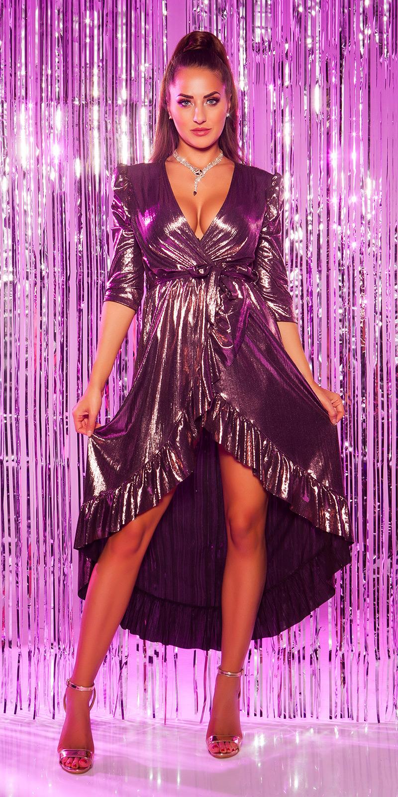 Plesové šaty 0000K3521 - purple