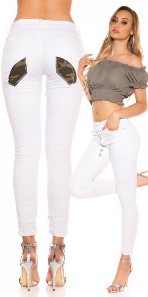 Sexy KouCla Low Crotch Jeans geknöpft