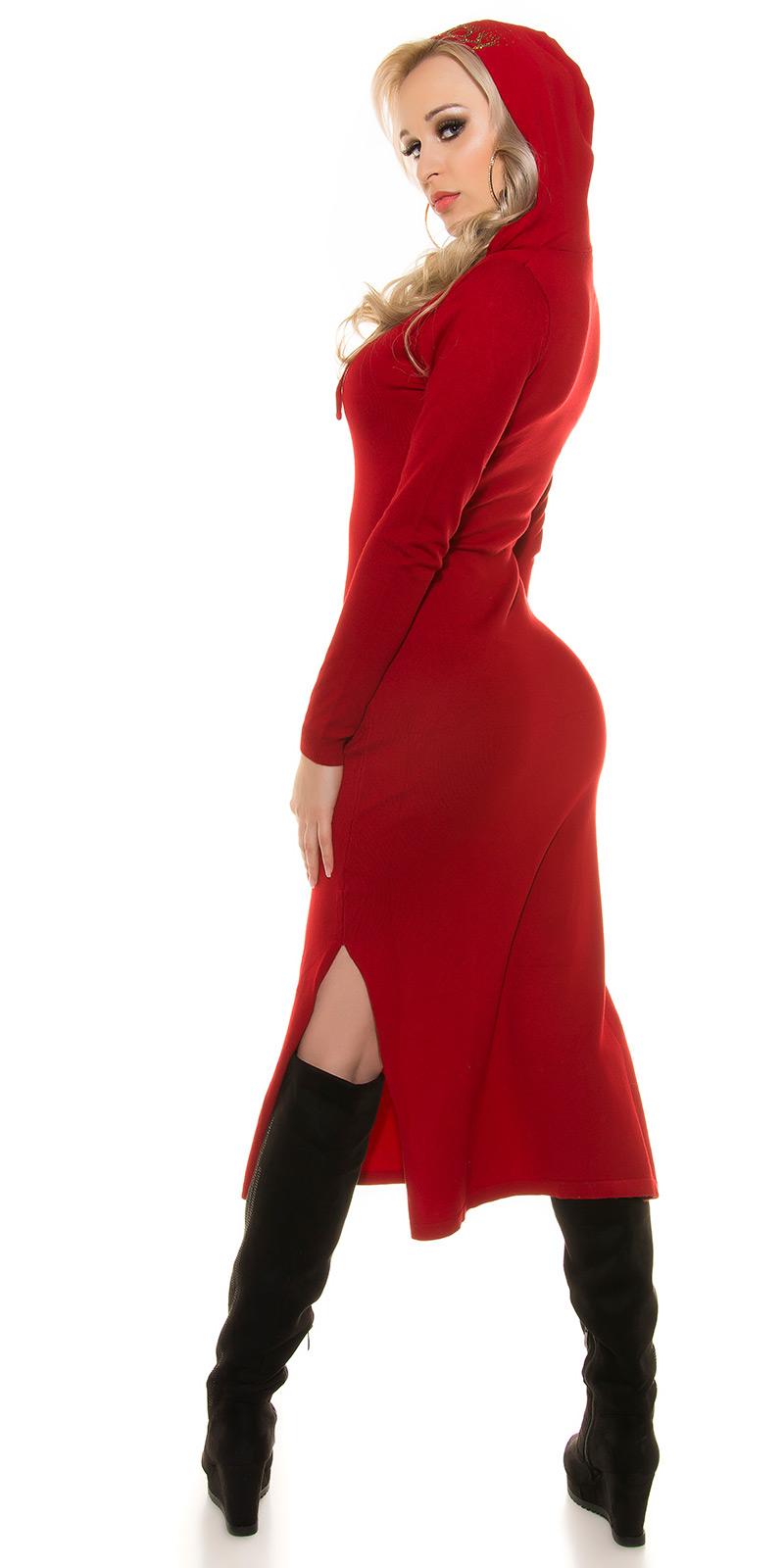 Šaty s dlouhým rukávem 0000ISF8722 - red