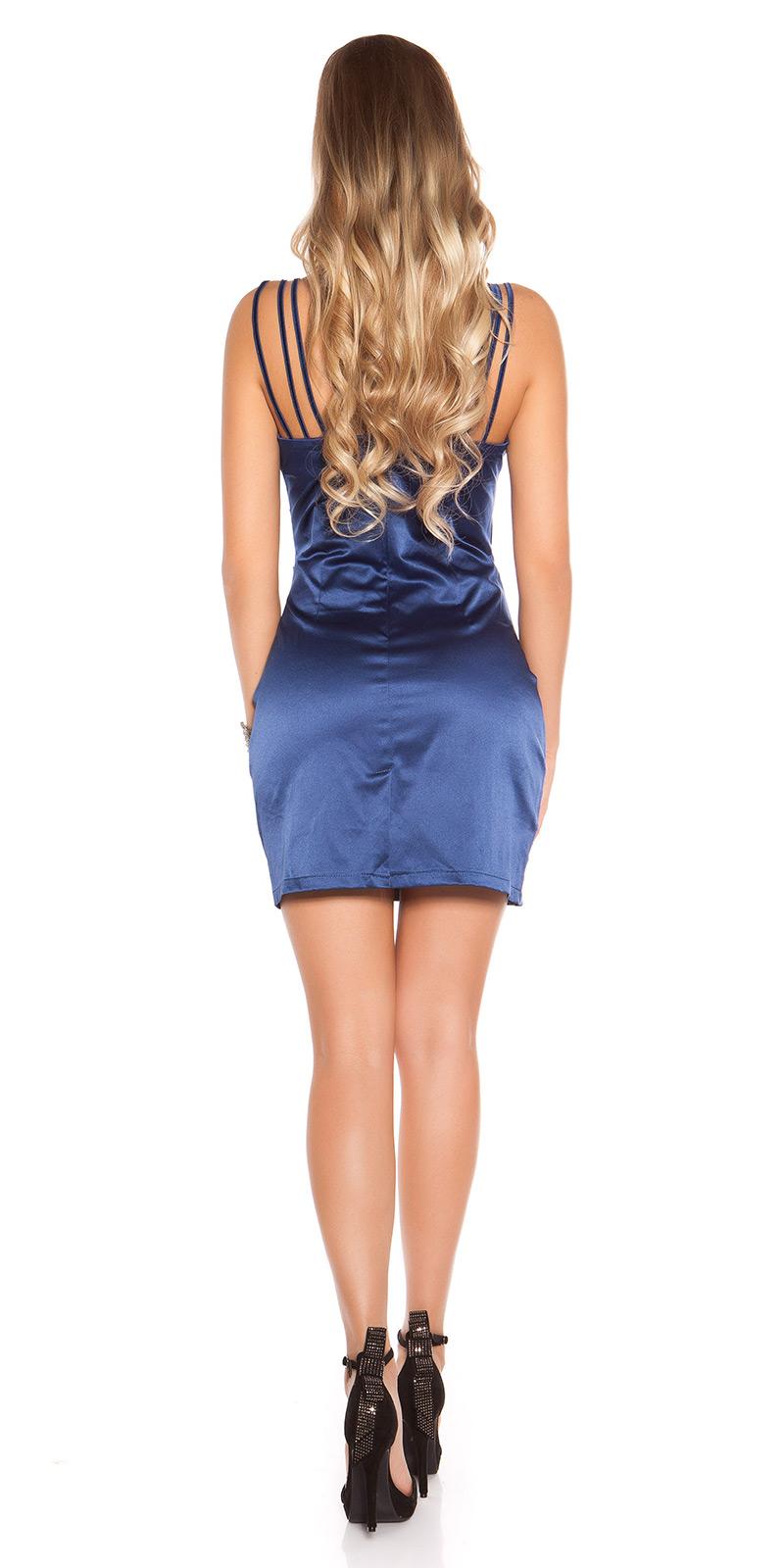 Koktejlové šaty 0000C130 - blue