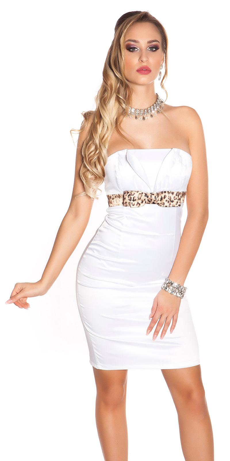 Koktejlové šaty 0000IDO-0874 - white