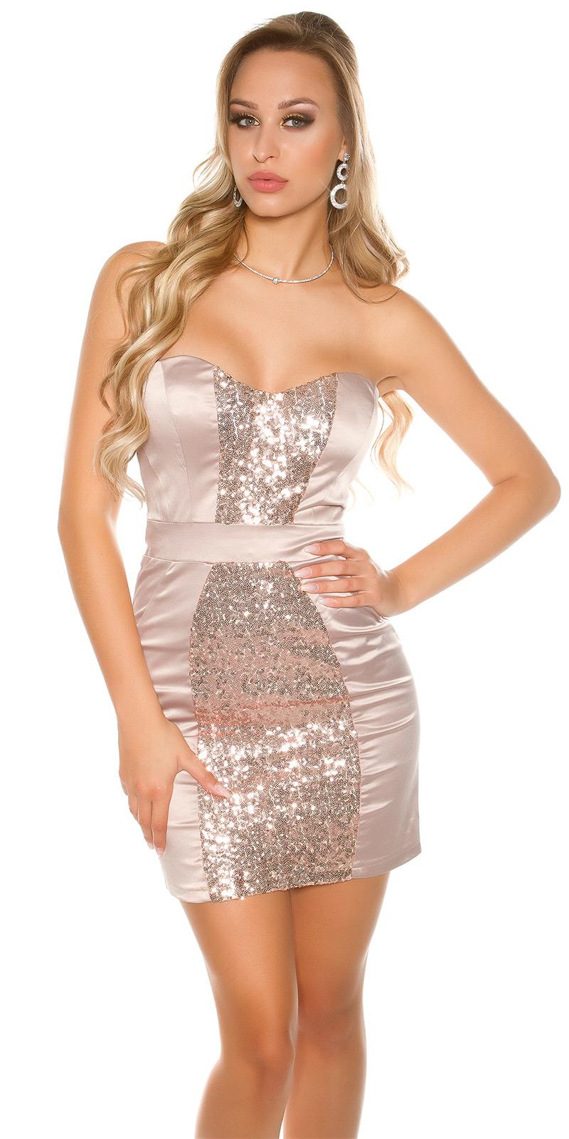 Koktejlové šaty 0000IN50139 - Beige
