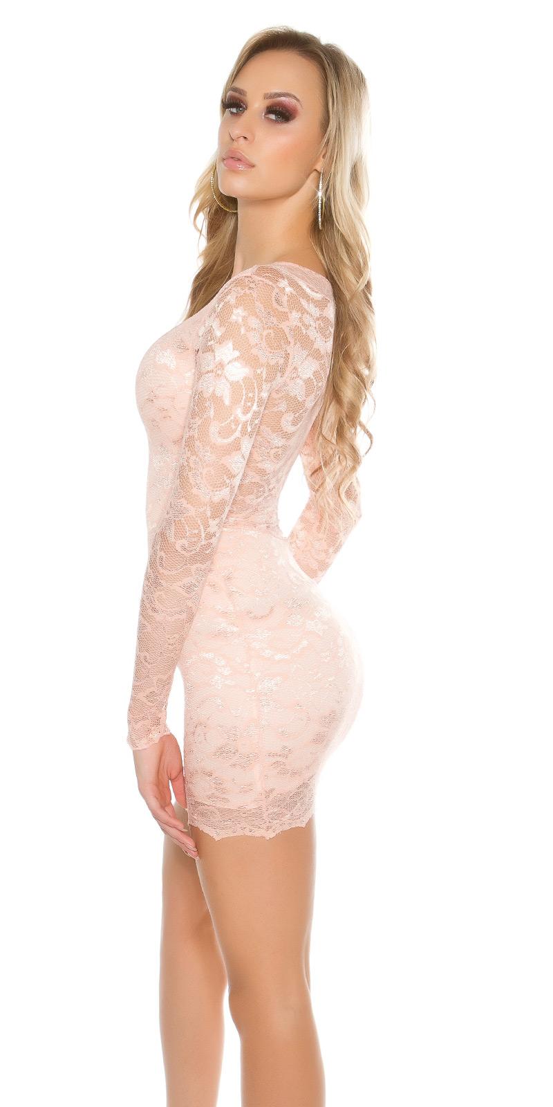 Šaty s dlouhým rukávem 00002100 - salmon