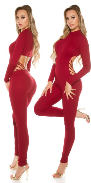 Sexy KouCla Catsuit Sexy Rücken Cut out