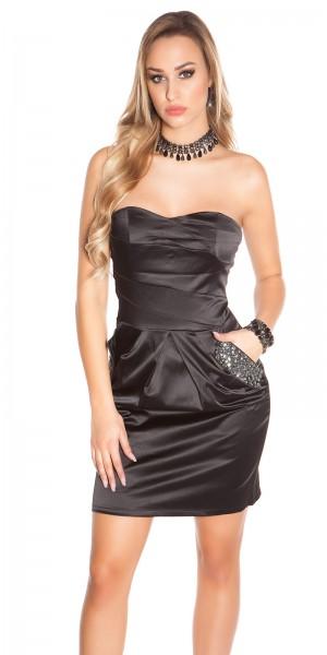 Sexy Bandeau-Party-Kleid mit Taschen