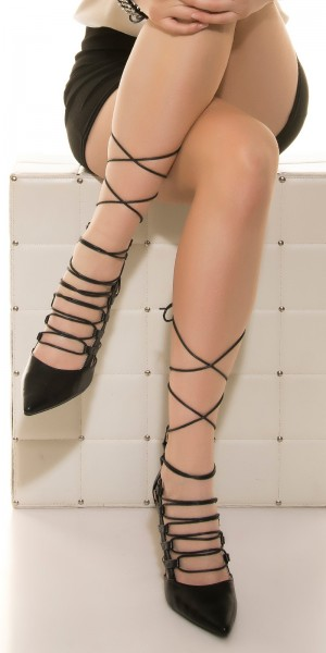 Sexy High Heel geschnürt mit Zip