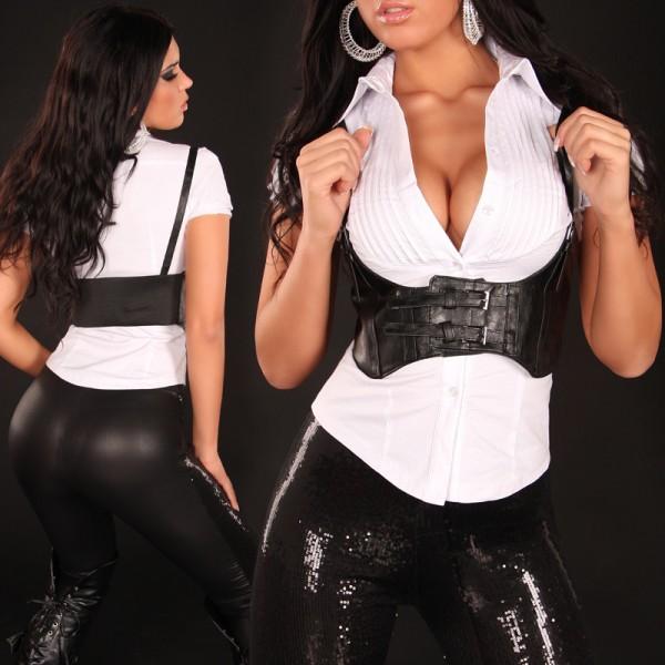 Sexy Taillen-Gürtel mit Trägern