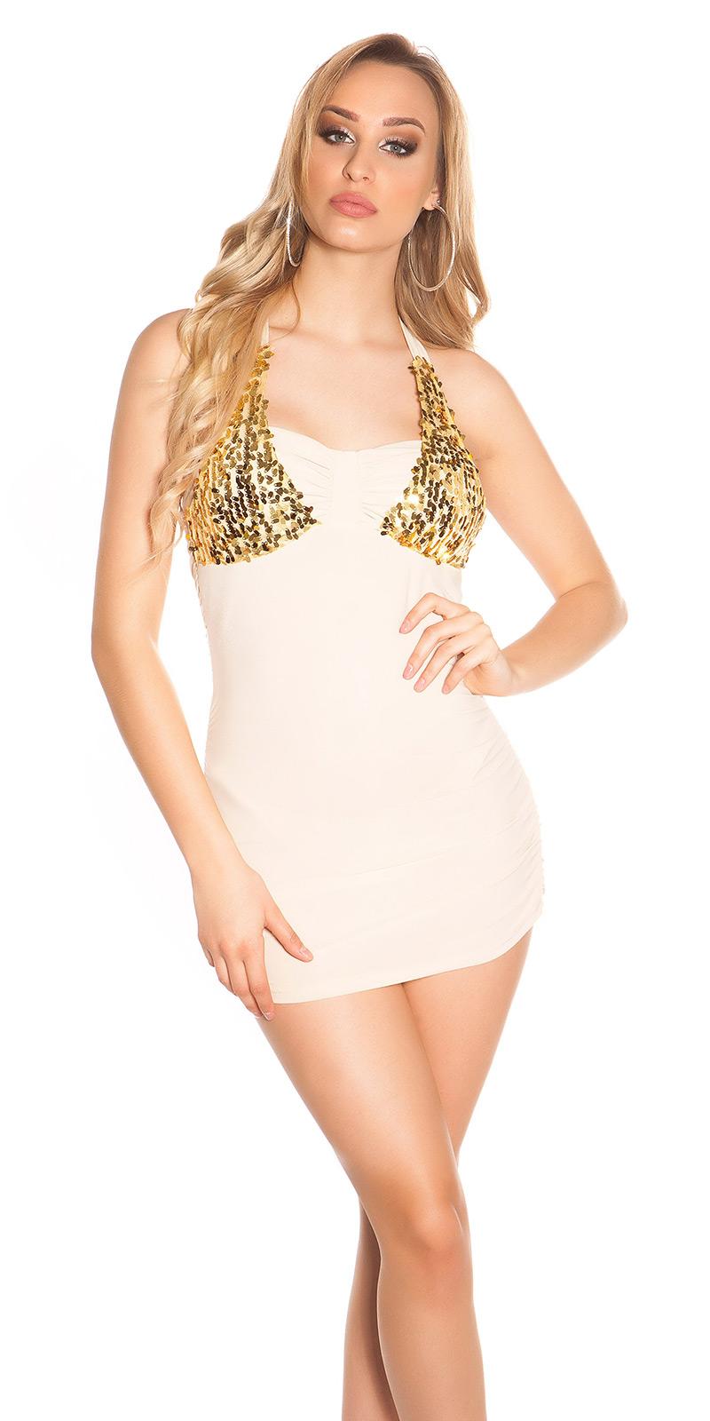 Krátké šaty 0000K10285-N - Beige