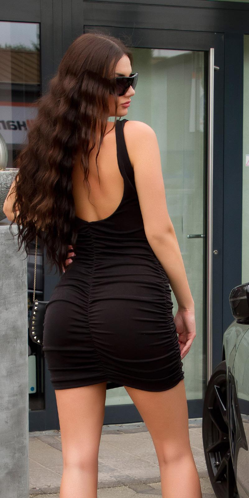 Krátké šaty 0000K15248 - Black