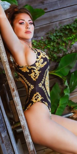 Sexy Luxury-Look Swimsuit Rückenfrei