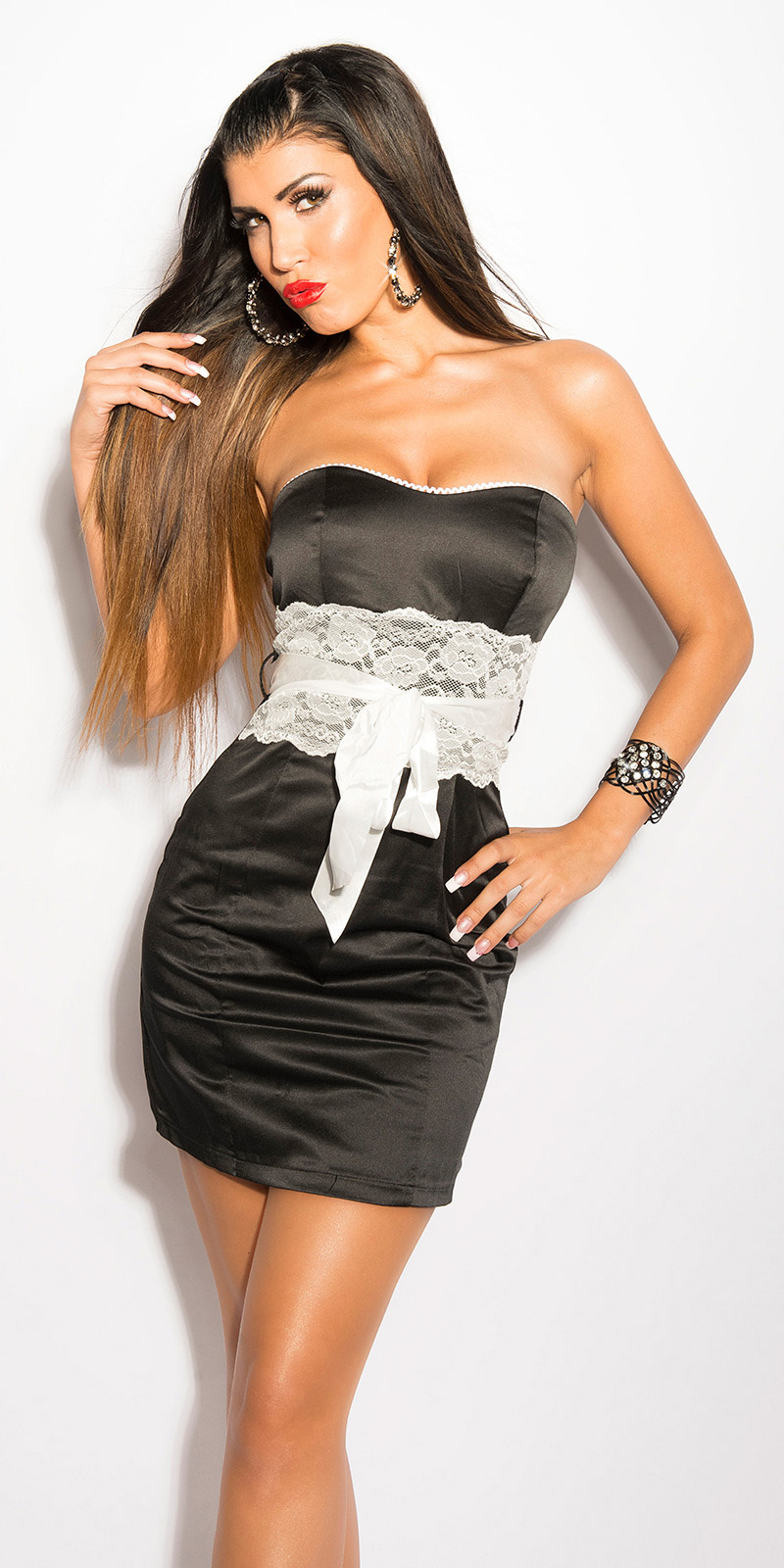 Koktejlové šaty 0000IN50133 - Black